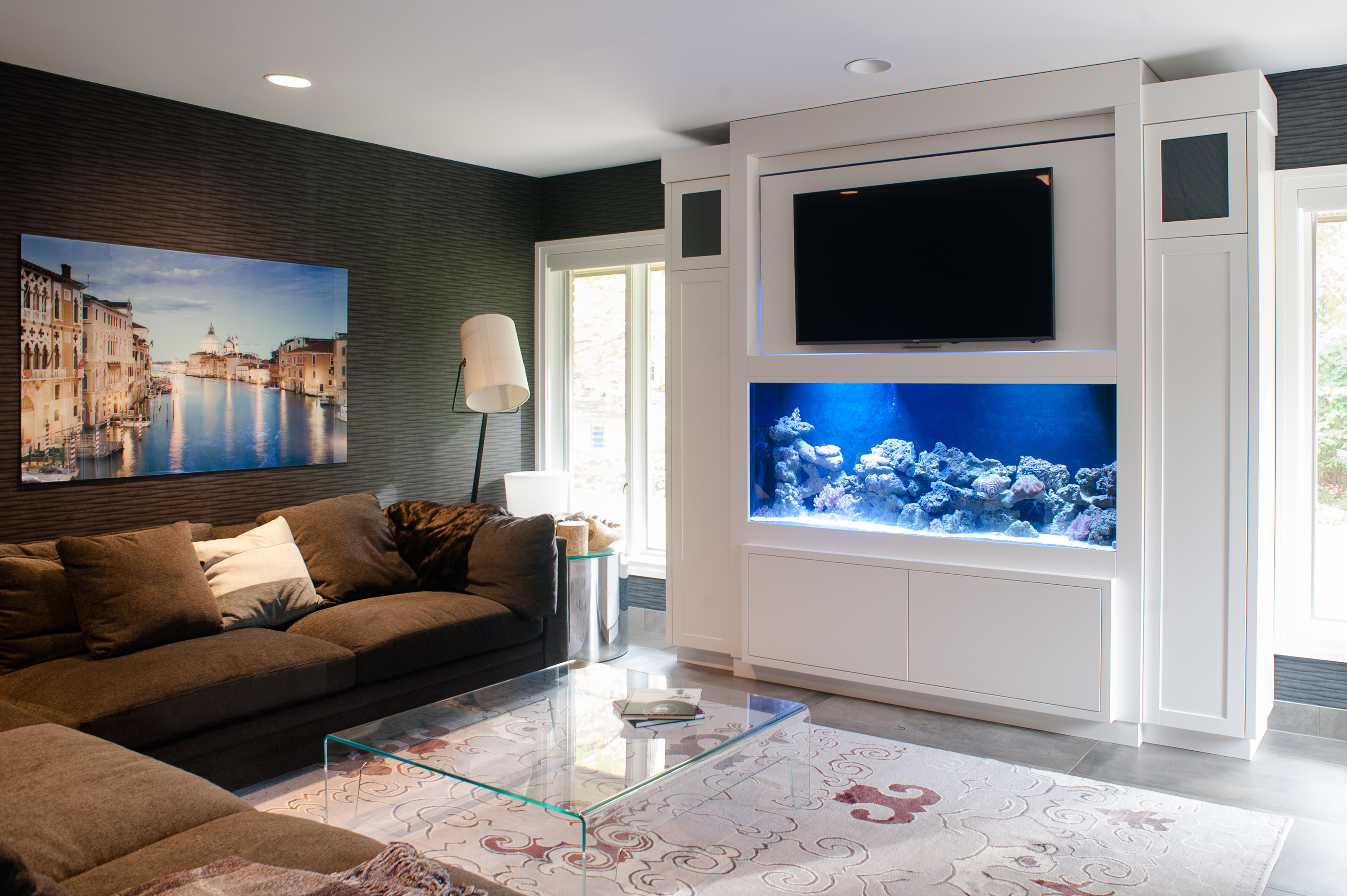 Copacetic Woodwork Design # Aquarium Meuble Tv
